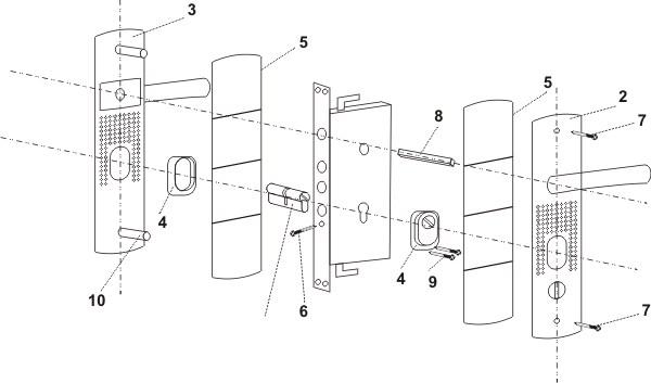 Схема замков железных дверей
